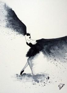 Black bird L'envol