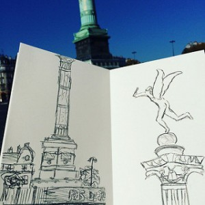 Urban sketch Bastille