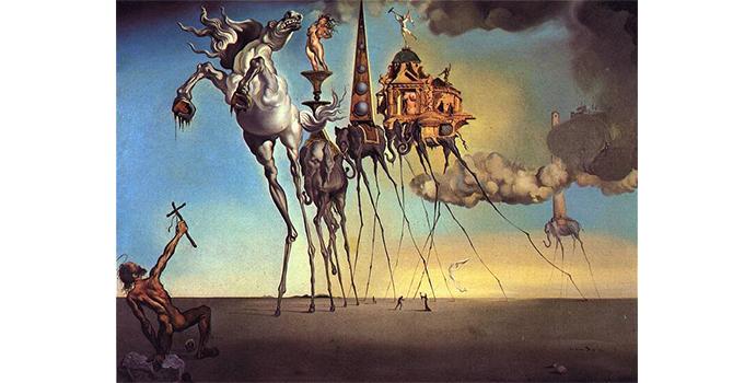 La Tentation de Saint Antoine par Dalí