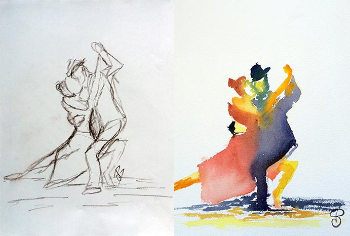 Croquis-aquarelle-tango