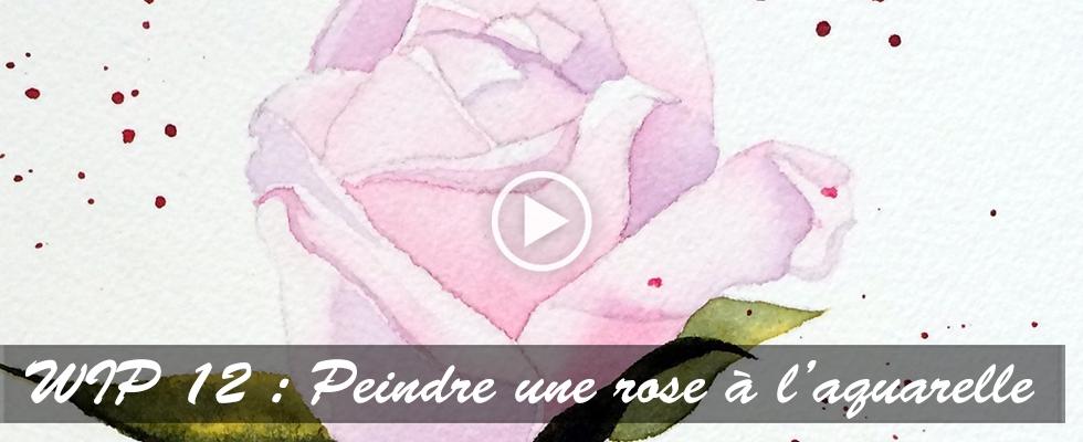 Peindre une rose à l'aquarelle