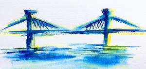 Aquarelles NYC - Manhattan Bridge