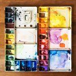 Grande palette couleurs aquarelle