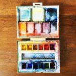 Petite palette couleurs aquarelle